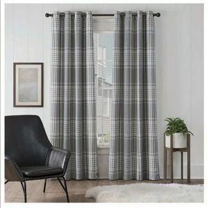 "Ugg Terra Plaid 95"" Curtain Panel Snow Seal"